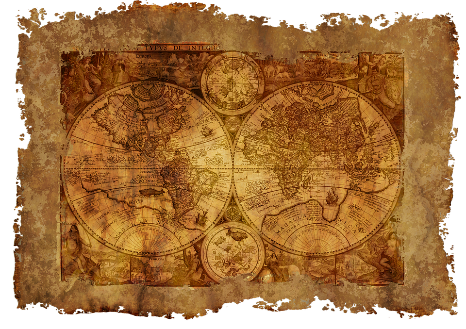Free Illustration Map Of The World Old Historically Free - Us parchment map