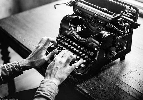 Typewriter, Old, Alphabet, Typing