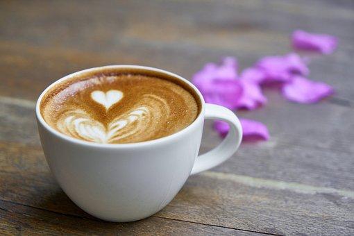 コーヒー, カフェ, テーブル, 食品, 飲み物, バック グラウンド