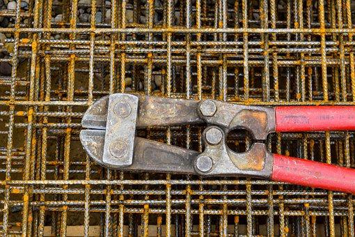 Iron Tongs, Pliers, Iron, Craft, Tool