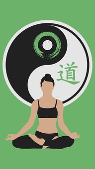 Tao, Yin Yang, A Nők, Silhouette, Jóga