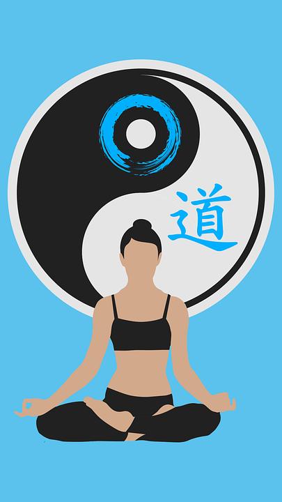 Yoga Meditation Pose Tao Yin Yang Frauen &#...