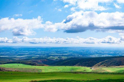 北海道, 日本, 自然, 風景, 大地, 緑, 青空, 観光地, 丘, 草原