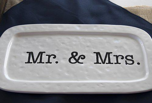 Mr, And Mrs, Wedding, Gift, Plate