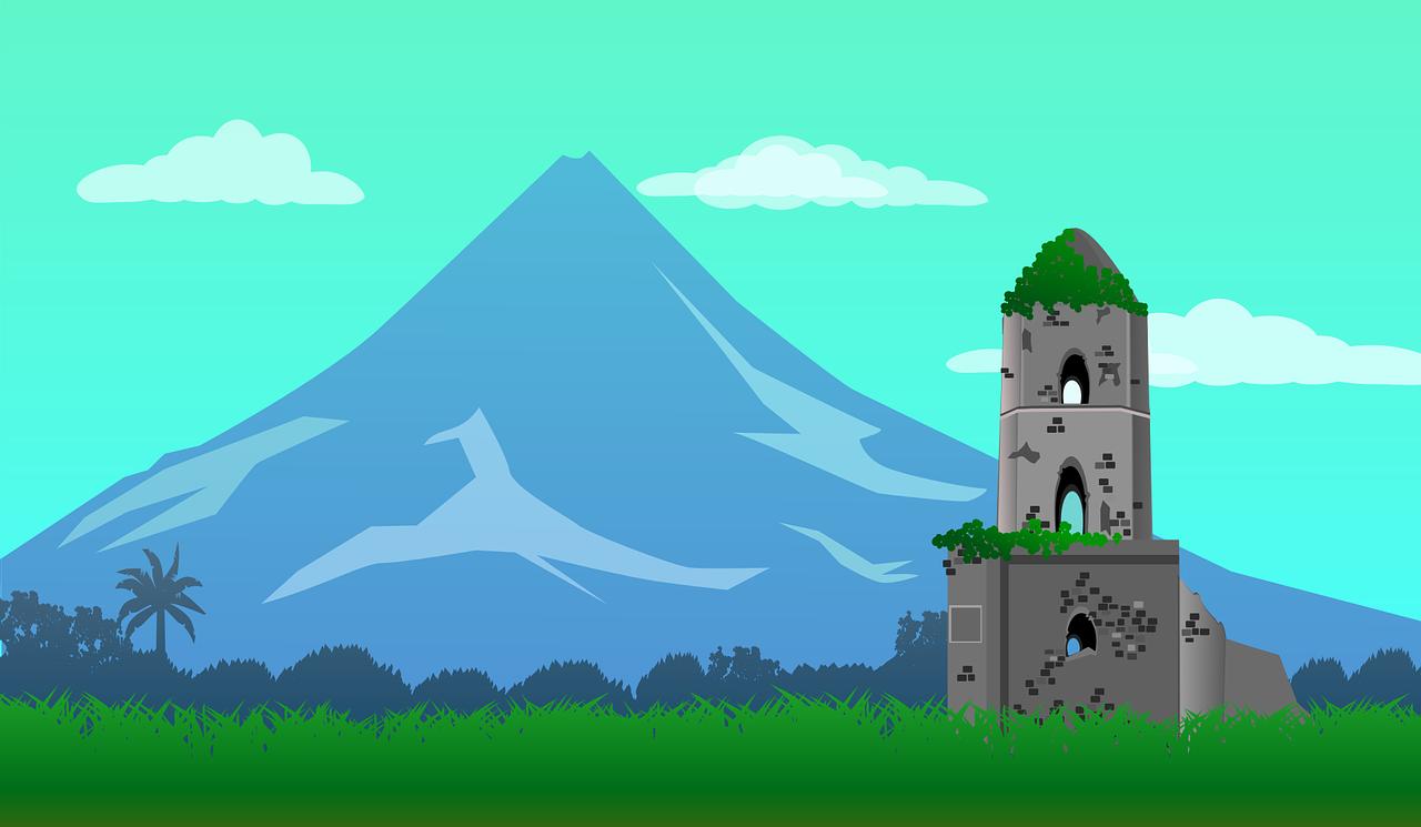 Philippinen Mayon Vulkan Kostenlose Vektorgrafik Auf Pixabay