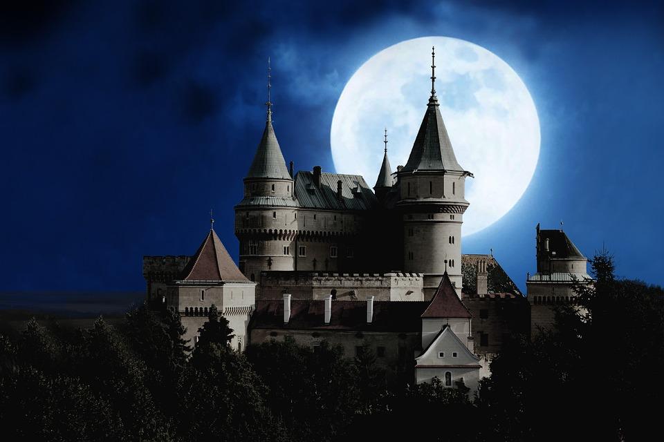 Moon, Castle, Full Moon, Mystical, Night, Moonlight