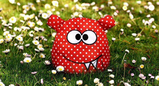 Monster, Fabric, Meadow, Floral, Daisy