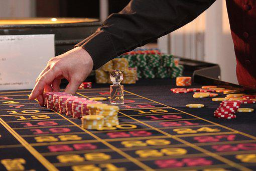 Roulette, Table, Chips, Casino, Game