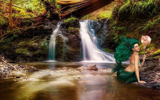 Mermaid Fantasy Siren Fairy Tales Backgrou