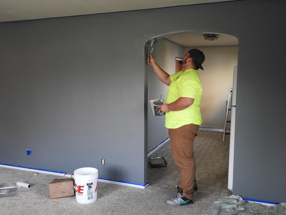 Painter, Paint, House, Indoor, Livingroom, Work, Home
