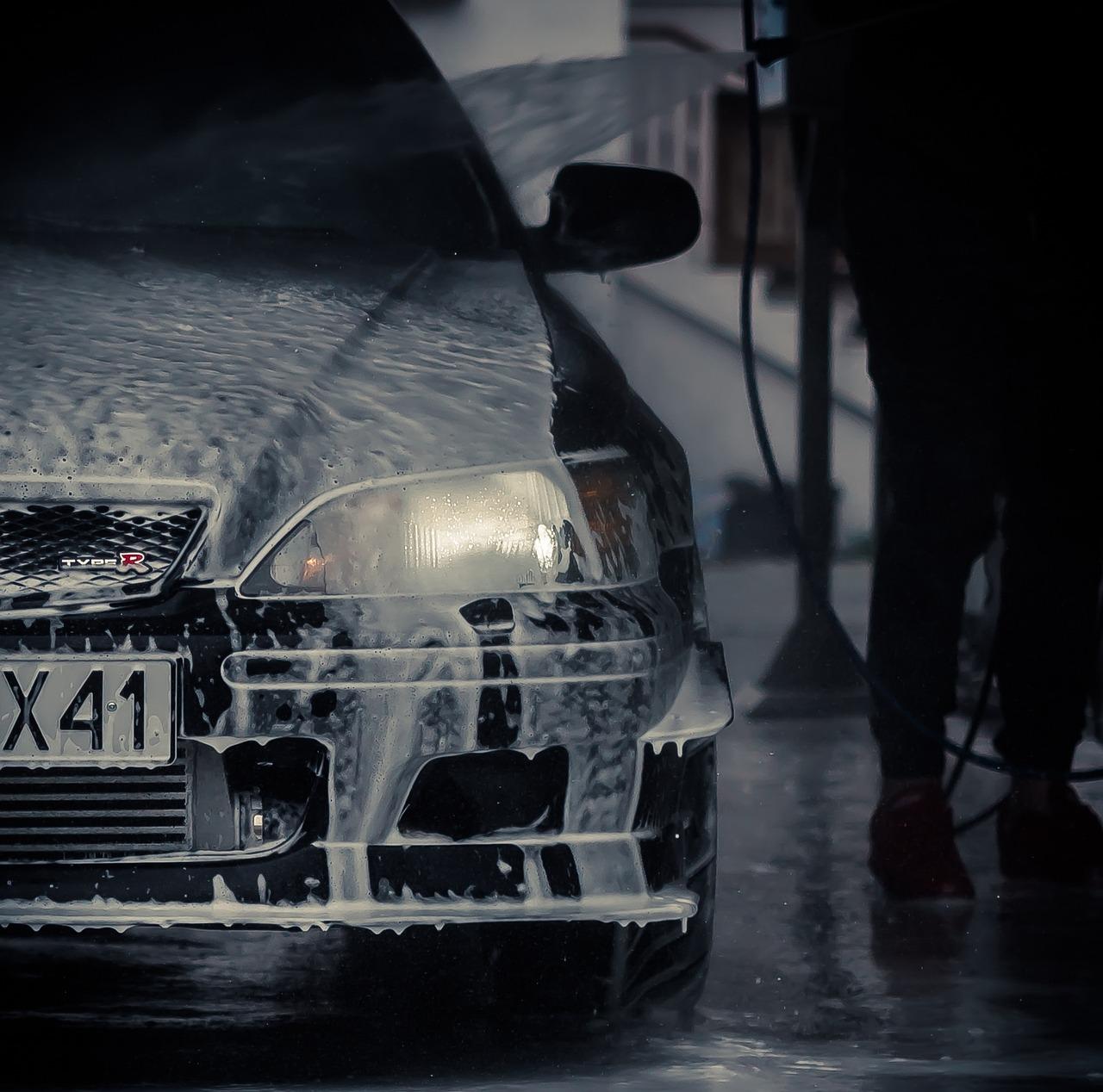 Honda Accord in a carwash