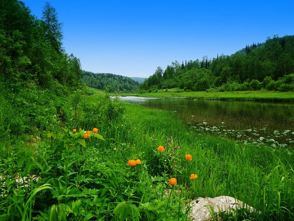 Juni, Fluss, Sibirien