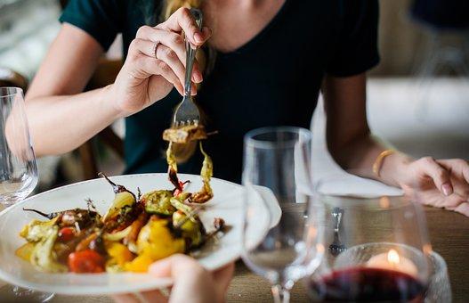 料理, 食品, イタリア, 前菜, 夕食, 昼食, レストラン, フォーク