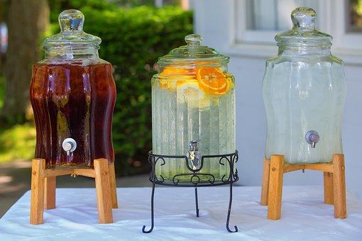 Ice Tea, Summer, Drinks, Lemonade, Ice