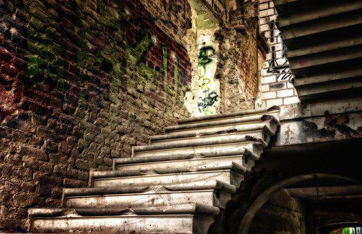 Lost Places, Stairs, Home, Ailing, Leave