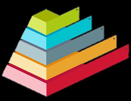 カラフルな3Dピラミッド, 図表しょう。, インフォグラフィック, 階層