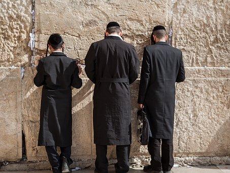 嘆きの壁, エルサレム, ユダヤ人, 祈る, 正統派の, 神聖な, 宗教, 西部