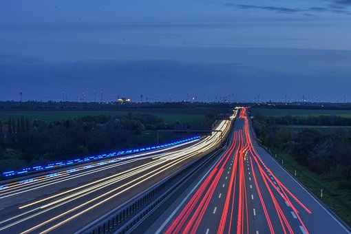 Long Exposure, Highway, Traffic