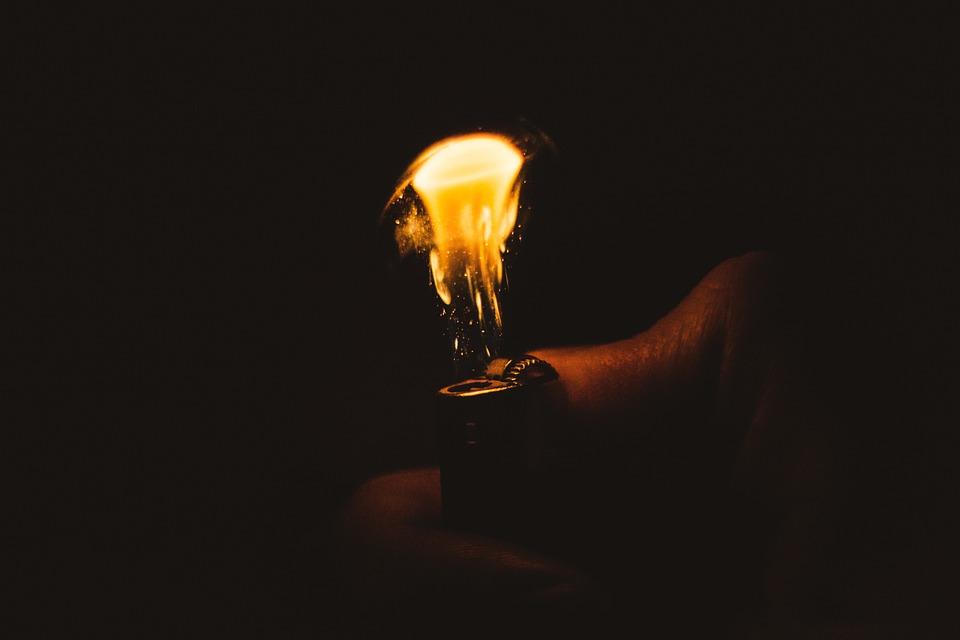 Fire Lighter Light Warm Burn Flame Kindle Hot