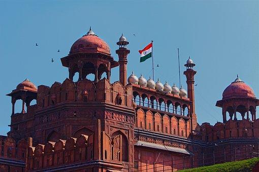 Red Fort, Delhi, India, Travel, Ancient
