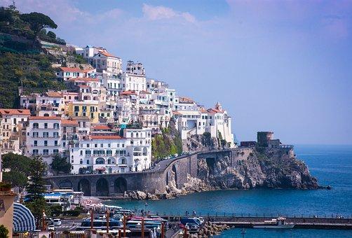 Amalfi, Amalfi Coast, Coast, Cliff