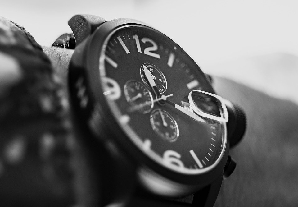 Wrist, Watch, Black And White, Minute, Time, Wristwatch