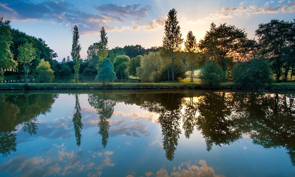 free photo sunset colorful reflection free image on