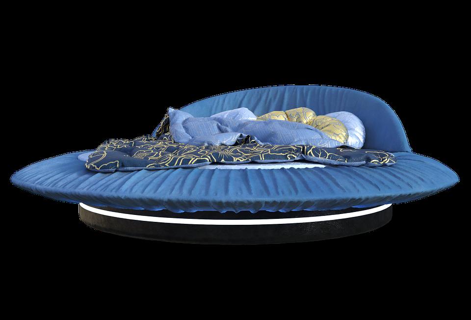 Bett Rund Blau Kostenloses Bild Auf Pixabay