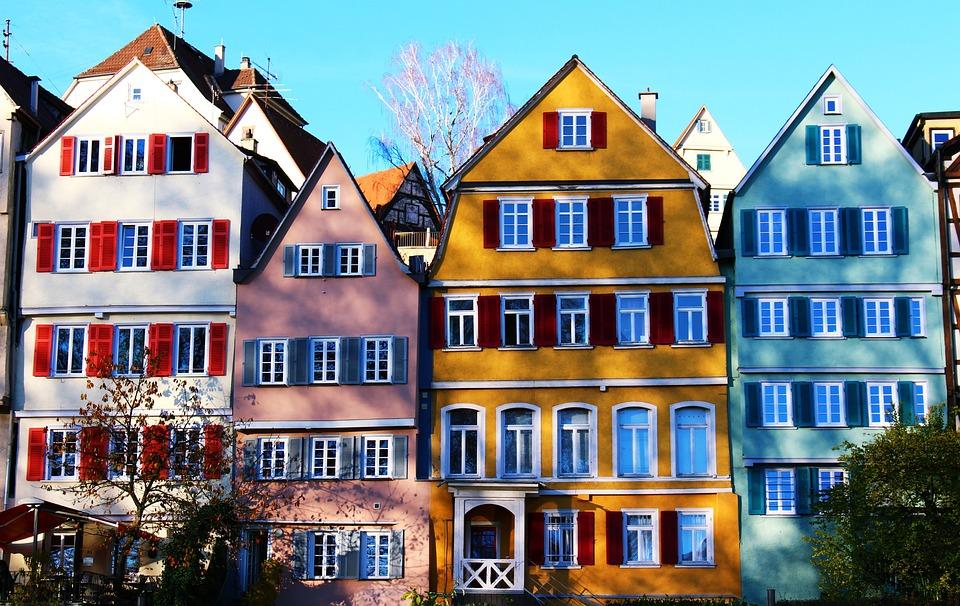 Τύμπινγκεν πολύχρωμα σπίτια