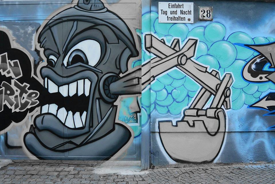 Célèbre Free photo: Graffiti, Street Art, Urban Art - Free Image on  AF24