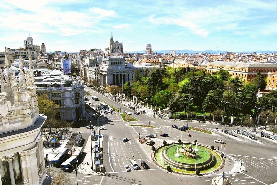 Madrid, Cibeles, Gran Vía, Banco De España, Ciudad