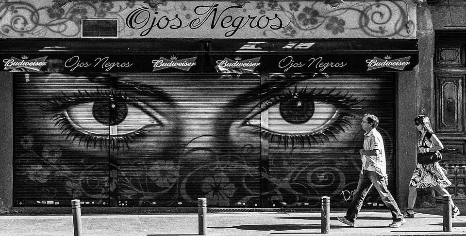 Putih hitam madrid kota · foto gratis di pixabay