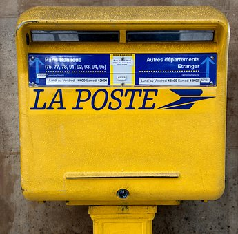 Mailbox, Post, Letters, Yellow, Mailing