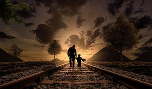 Father And Son, Walking, Love