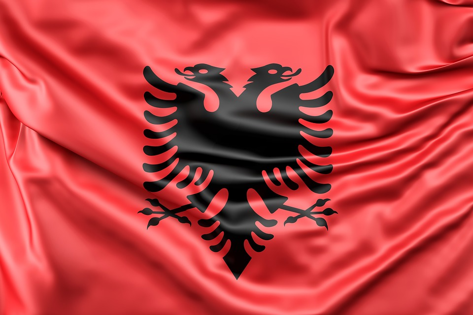 Free Photo Albania Flag Europe Red Silk Free Image On - Albania flag