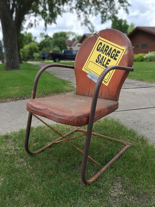 garage sale sign rusty metal free photo on pixabay