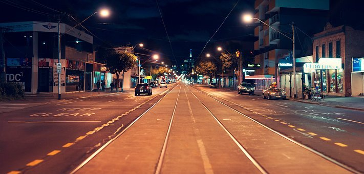 Street, Tracks, Melbourne, Richmond