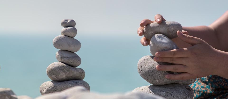 Meditation, Steintürme, Steinturm, Balance, Turm