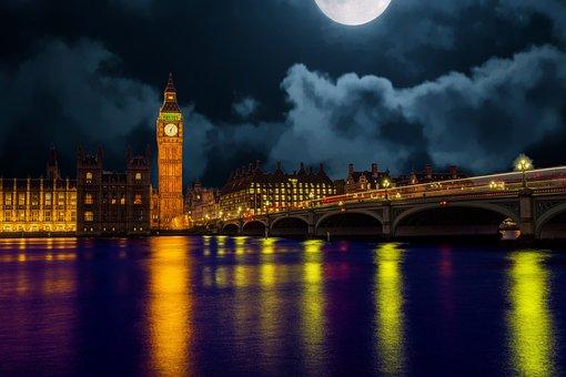 ロンドン, スカイライン, イングランド, ランドマーク, 都市の景観