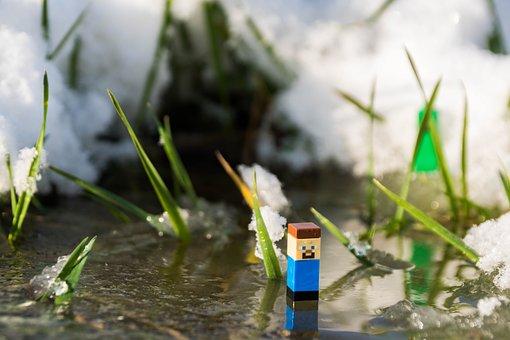 Minecraft, Steve, Creeper, Toys, Winter