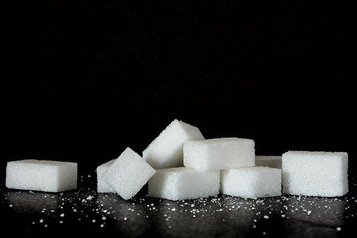 sugar cubes non black surface