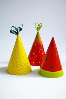 Party, Party Hats, Fruit, Fruit Hat
