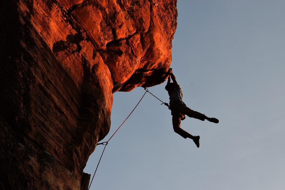 Panjat Tebing, Free Climbing, Pendakian, Pria