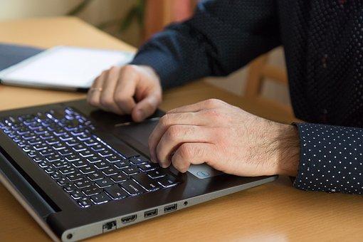 Computer, Hands, Work, Keyboard