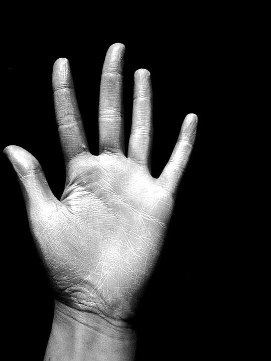 Fabuleux Photo gratuite: Main, Noir Et Blanc, Doigts, Rides - Image  BH82