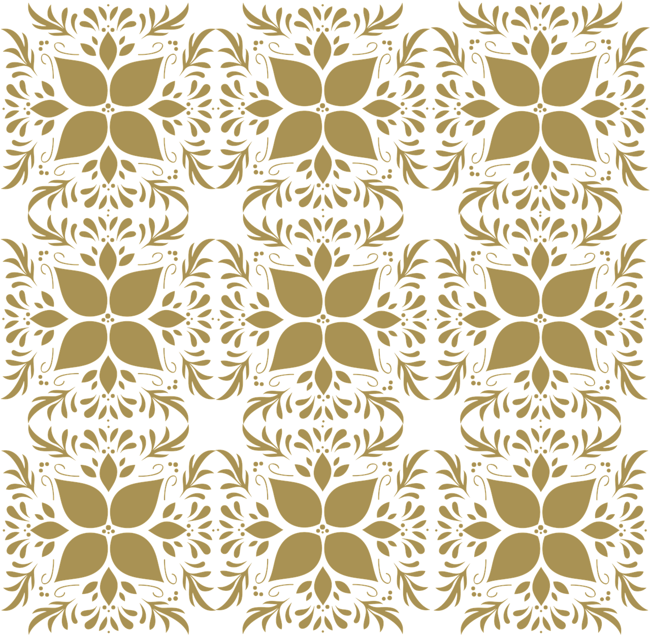Pattern Gold Floral Free Image On Pixabay