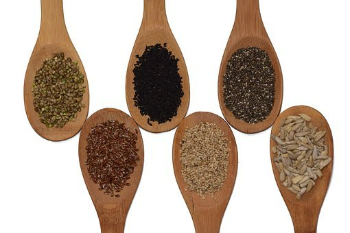 Seeds, Sunflower Seeds, Chia, Sesame