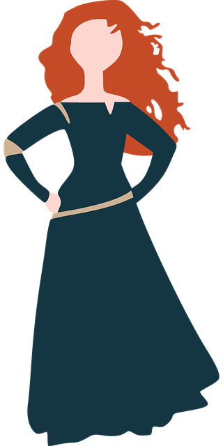 free vector graphic disney merida brave princess