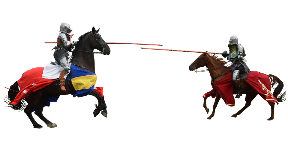 knights jousting medieval free photo on pixabay
