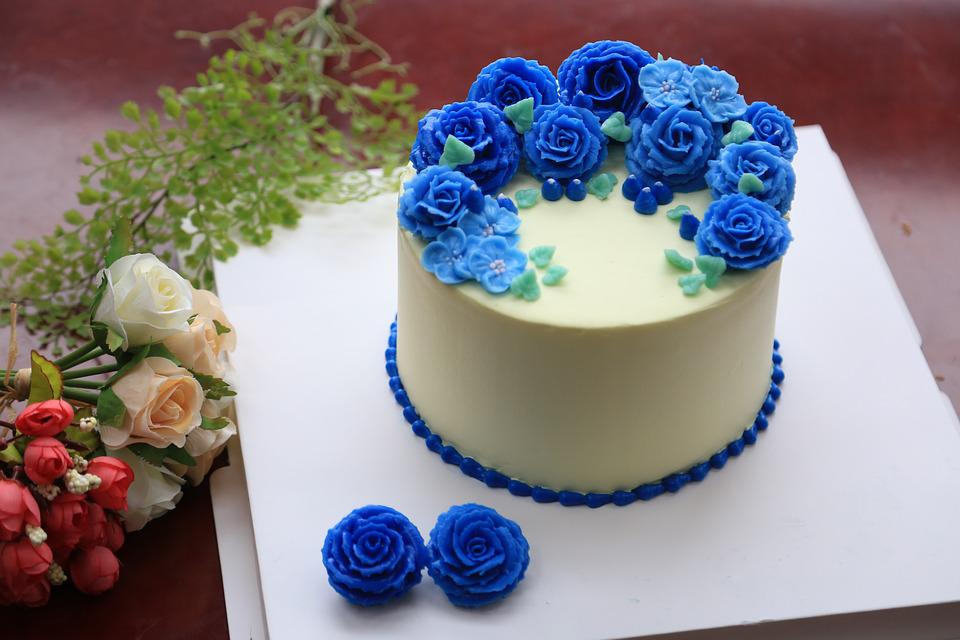 la decoracin de la torta pastel dulce crema flor